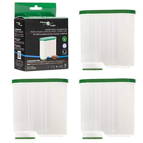 FilterLogic CFL-903B | 3-pack waterfilter compatibel met Saeco AquaClean CA6903/00 CA6903/01 CA6903/99 CA6903 kalkfilter, Aqua Clean filterpatroon voor koffieautomaat