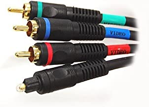 Zagall Premium Component Video with Toslink Audio Cable - 6 Feet