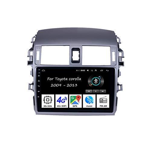 Autoradio Mit Navi Car Stereo Radio Coche Pantalla Tactil Coche GPS Navegación para Toyota Corolla 2009-2013 Conecta Y Reproduce Cámara De Respaldo Estéreo De Coche Auto DVD Player