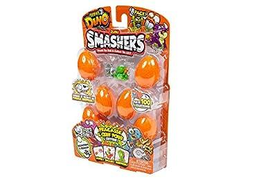 ZURU SMASHERS 7438 Series 3 Dino 8-Pack with Dig n' Find Surprise, Orange, One Size by ZURU