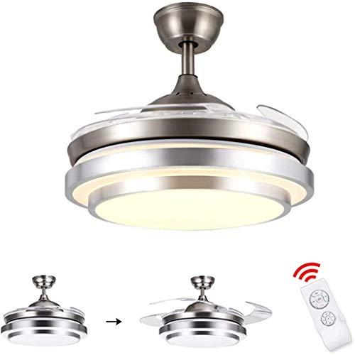 Deckenventilator mit Licht- und Fernsteuerung, 36 W, dimmbar, LED, Deckenbeleuchtung modern, klappbar, Ventilator, 100 cm Durchmesser