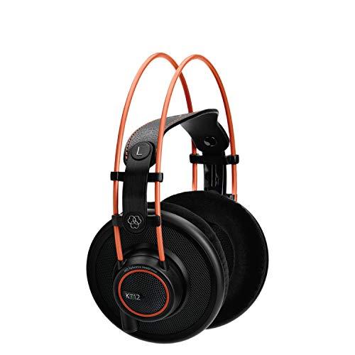 AKG K712 Pro Open Back - Cuffie di riferimento, aperte, over-ear per ascolto, missaggio e mastering di grande precisione, Nero