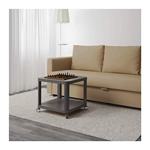 IKEA Tingby 003.494.44 Beistelltisch auf Rollen, Grau, Größe 48 x 48 cm