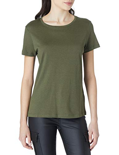 Tom Tailor 1024813 Basic Camiseta, Olive 13050-Ovillo de Peluche, Color Verde, XL para Mujer