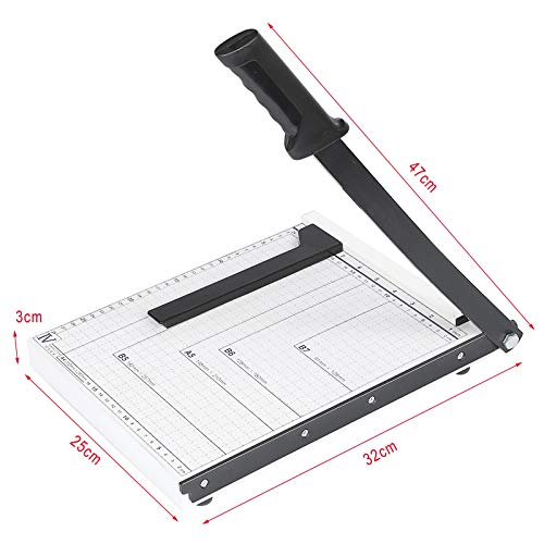 Paper Cutter A4 Paper Trimmer Heavy Duty White Photo Guillotine Craft Machine 12 inch Cut Length,10 Sheets Capacity (A4-White)
