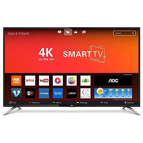 Smart TV UHD 4K 50', AOC LE50U7970S, Preto