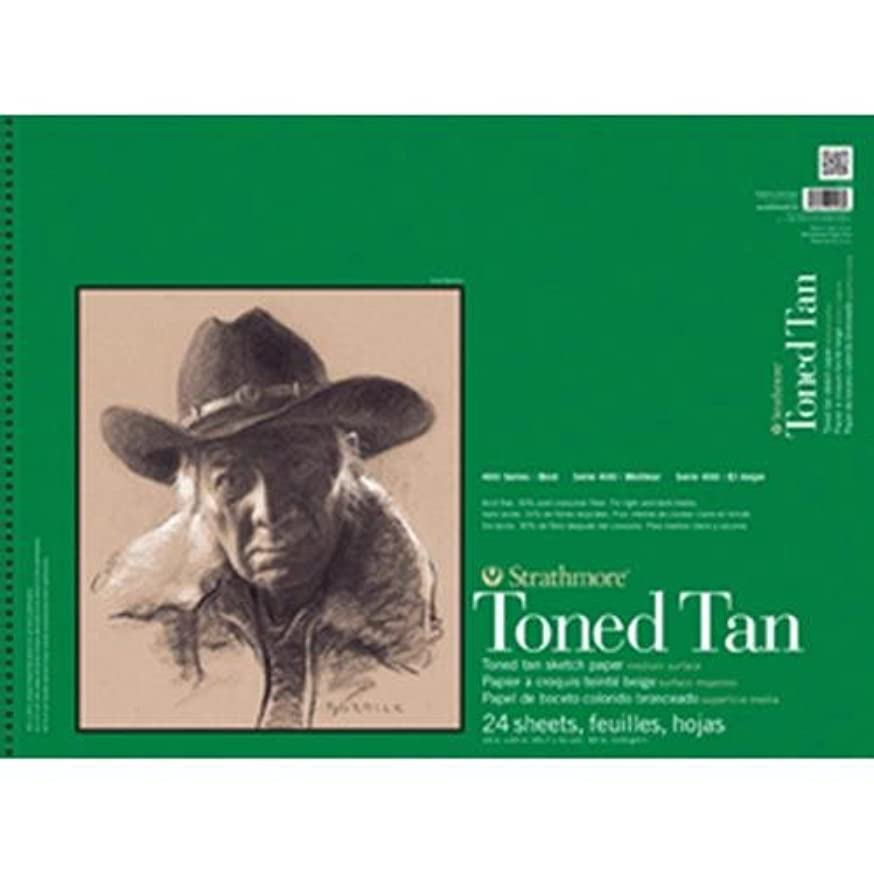 Strathmore 412-18 400 Series Toned Tan Sketch Pad, 18