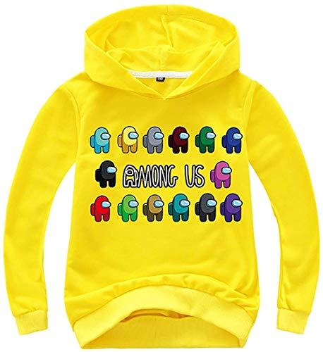 XXHDEE Sudaderas con capucha para niños de color sólido con estampado de Game Among Us para adolescentes (color: 10, tamaño: 130)