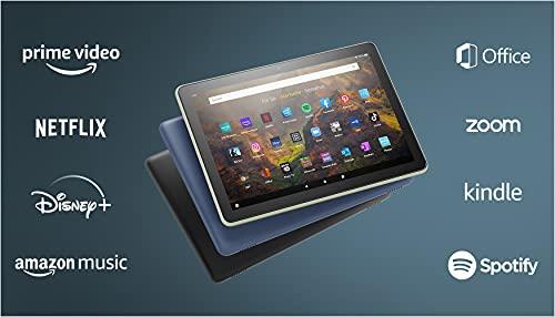 Das neue Fire HD 10-Tablet | 25,6 cm (10,1 Zoll) großes Full-HD-Display (1080p), 32 GB, schwarz – ohne Werbung