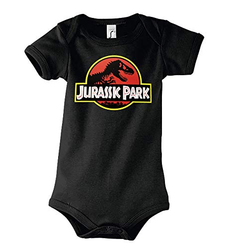 Youth Designz - Tutina per neonato Jurassic T-Rex Nero 3-6 Mesi