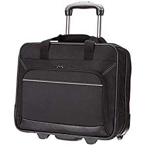 AmazonBasics Rolling Laptop Case on Wheels – Fits Most Laptops up to 16″