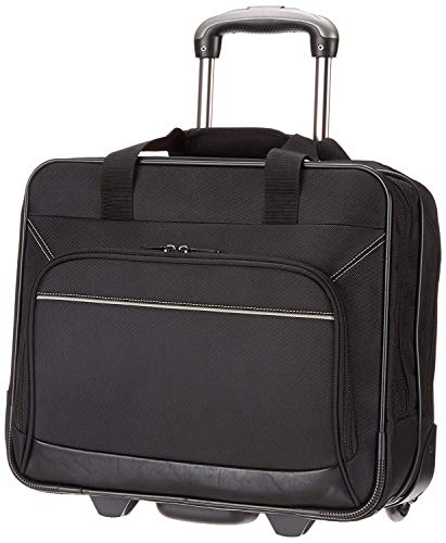 AmazonBasics Rolling Laptop Case on Wheels - Fits Most Laptops up to 16'