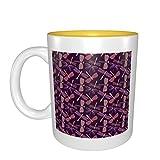 Regalo de cumpleaños para tazas de porcelana con diseño de libélulas rosas
