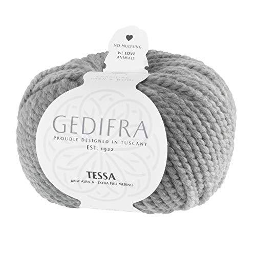 Gedifra 9810024-01405 Hilo para tejer a mano lana, 50% alpaca, gris medio, 12 x 12 x 8 cm