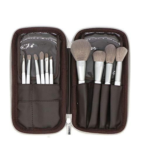 GBY Lot de 10 pinceaux de maquillage pour fond de teint, poudre, fard à joues, anti-cernes, fards à paupières, pinceaux de maquillage, Fibre synthétique., Noir , Free