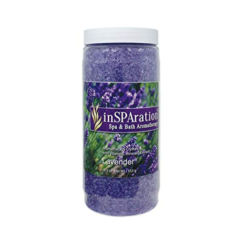 InSPAration 7463 Lavender Crystals-Epsom Salts, 19 oz, Purple