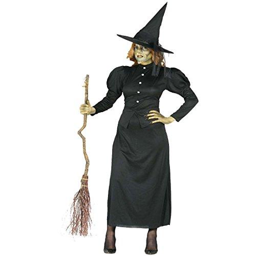Costume da Maga maligna Vestito Elegante da Strega L 46/48 Outfit di Carnevale da incantatrice Camuffamento di Halloween maliarda Mala Travestimento Festa in Maschera da stregone Mascheramento