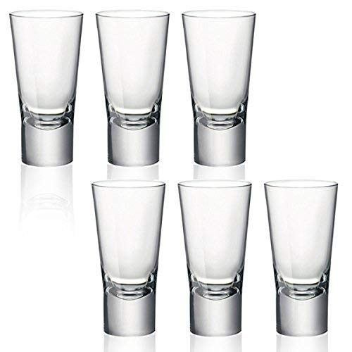 Bormioli Rocco, Ypsilon, bicchierini per shot di Vodka, a vetro doppio temperato, da 70...