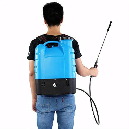 GOTOTOP Bomba pulverizadora, Mochila pulverizador de presión 16L Capacidad, pruzzatore para Plantas de jardín Bomba eléctrica de aspersión, Azul
