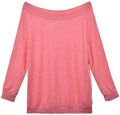 Yuson Girl Casual CamisetasMangaLargaMujer CamisaMujer Fuera del Hombro RopadeMujer Sexy Suelto Mujer Ocasionales Flojas Atractiva Elegante Moda