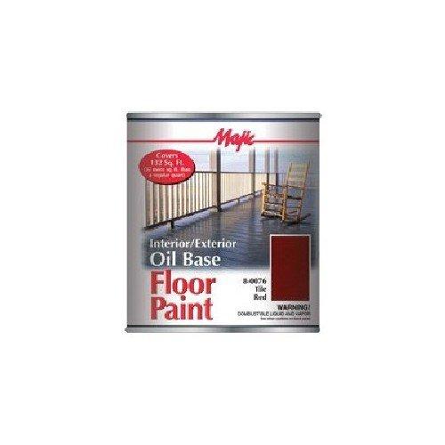 MAJIC 8-0076-2 QT Tile RED Interior Exterior Oil Base Floor Paint