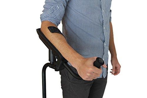 KMINA PRO - Muletas adulto regulables aluminio, Muletas ortopédicas, Muletas ergonomicas, Muletas adulto acolchadas, Muleta Unidad Derecha