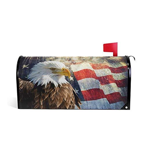 Bclghy Eagle e bandiera americana magnetica patriottica cassetta postale copertura MailWraps giardino cortile casa decorazione per esterni oversized-64,8 x 53,3 cm