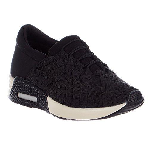 Bernie Mev Womens Best Tori Fashion Sneakers (5.5 B(M) US, Black)
