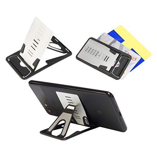 カード型 スマホスタンド 超薄型 4mm 軽量 折りたたみ 9段階 角度調整 iPhone Android PR-CARDSTAND