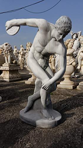 Estatua clásica de Hormigón Discobolo 100cm. - Peso: 70Kg. - Figura, Escultura Romana Estilo jardín Ingles. - Hecho en España.