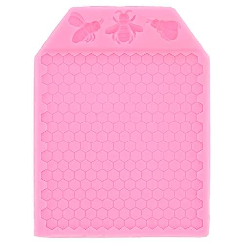 Molde para fondant, molde multifuncional para pasteles DIY, suministros de panadería, antiadherente reciclable para cocina, aniversario, regalos para amigos(pink)