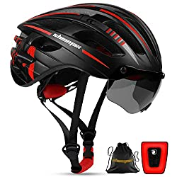 small Shinmax Bicycle Helmet, CPSC / CE Certified Bicycle Helmet, with USB Battery and Magnet …