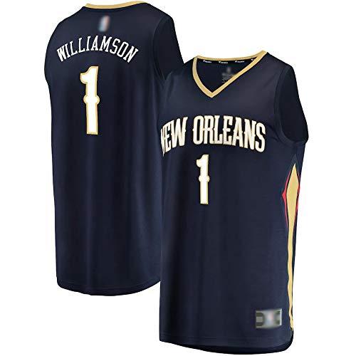 Camiseta de baloncesto al aire libre Zion New Orleans # 1 azul marino, Williamson Pelicans 2019 Draft First Round Pick Fast Break Replica Jersey Sudadera transpirable para hombre - Icon Edition