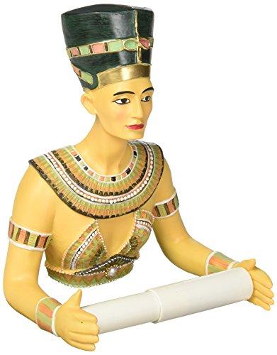 Design Toscano Queen Nefertiti Holder Egyptian Decor-Toilet Paper Roll-Bathroom Wall Décor, Multicolor