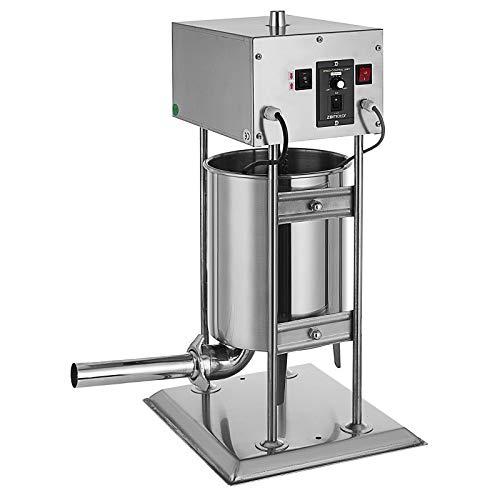 HuSuper 10L Elektrische Wurstfüller Wurstmaschine 25LB Wurst Stuffer Wursthersteller Edelstahl für Küche Restaurants und Lebensmittelproduktion