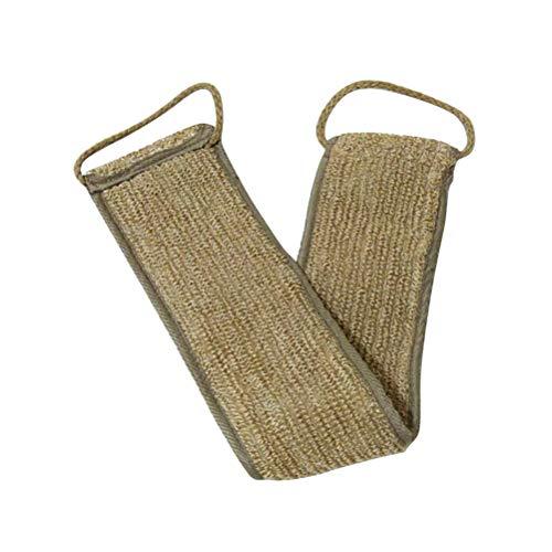 Healifty Toalla de baño de lino Frotar Volver Toalla de fricción Fregadora de espalda Volver Scrub Tira de ducha de tira larga