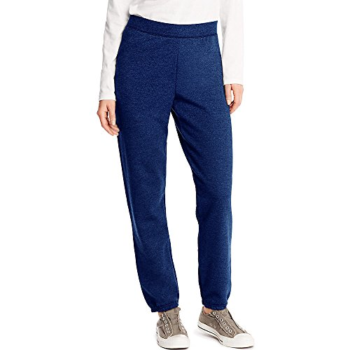 Hanes Women's EcoSmart Cinched Cuff Sweatpants, Navy Heather, M