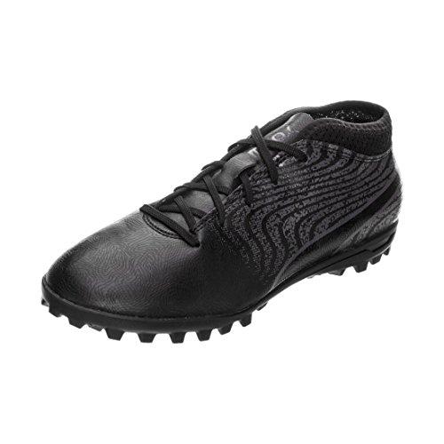 Puma One 18.4 TT Voetbalschoenen voor kinderen, uniseks, zwart (zwart/antraciet zwart/antraciet), 37 EU