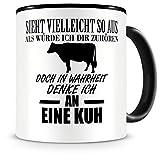 Samunshi Ich denke an eine Kuh Tiere Tasse Kaffeetasse Teetasse Kaffeepott Kaffeebecher Becher