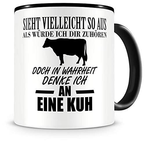Samunshi® Ich denke an eine Kuh Tiere Tasse Kaffeetasse Teetasse Kaffeepott Kaffeebecher Becher