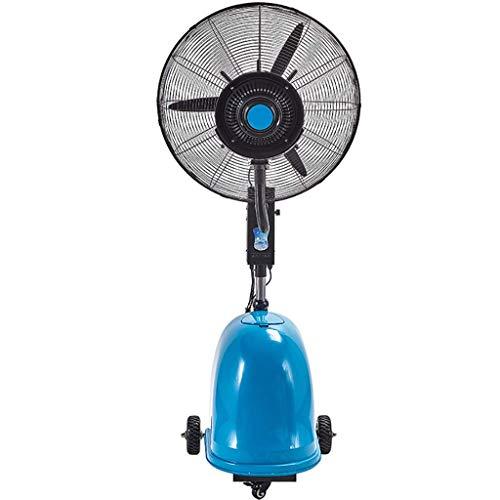 ZGYQGOO Ventilador de pie 28/32 Pulgadas - Ventilador de pie, 3 velocidades, Altura Regulable, Ventilador de Niebla, Azul, con Ruedas de Estilo Industrial para casa y Oficina