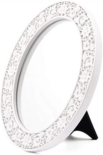 Miroir de maquillage LHY rétro Princesse Décoration Miroir Dressing Décoration Rose Dentelle Tabletop La Mode