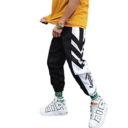 Tasty Life Pantaloni da Jogging da Uomo Harlan Modelli Esplosione Primavera Pantaloni Hip Hop Pantaloni Sportivi Multi-Tasca Neri da Uomo Casual Street (XL, Black2)
