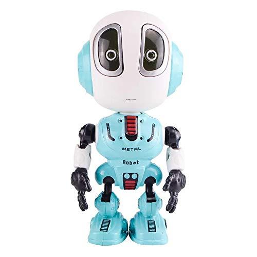 TaiRi Mini Sprechen Smart Robot Toy Legierungsroboter Interaktives Lernspielzeug mit berührungsempfindlichen LED-Augen Flexible Körper Reise Spielzeug