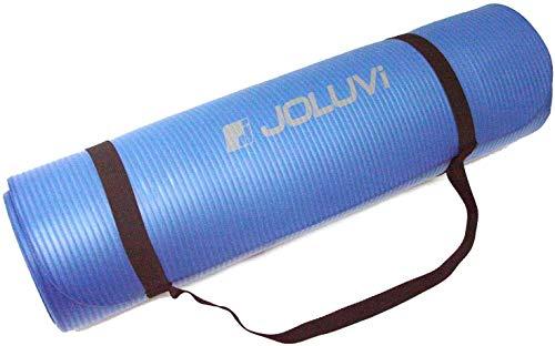 Joluvi COLCHONETA Esterilla Almohadilla Pilates Gruesa Gimnasia Yoga Aerobic Camping Azul