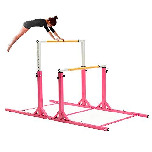 wonline Parallel Bars Horizontal Gymnastics Bar Junior Training Bar Height Adjustable 3