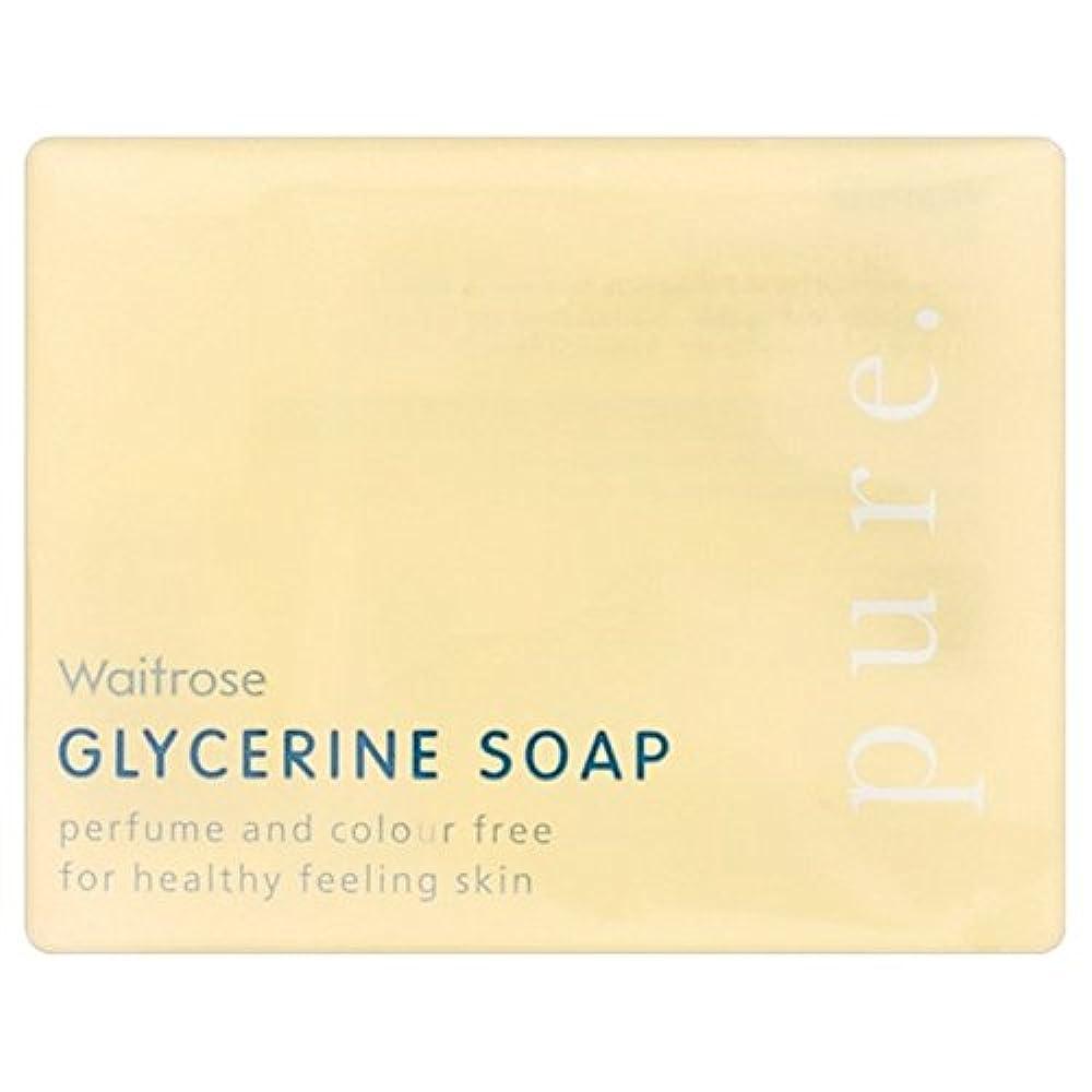 劣るかかわらず学部Pure Glycerine Soap Waitrose 100g (Pack of 6) - 純粋なグリセリンソープウェイトローズの100グラム x6 [並行輸入品]