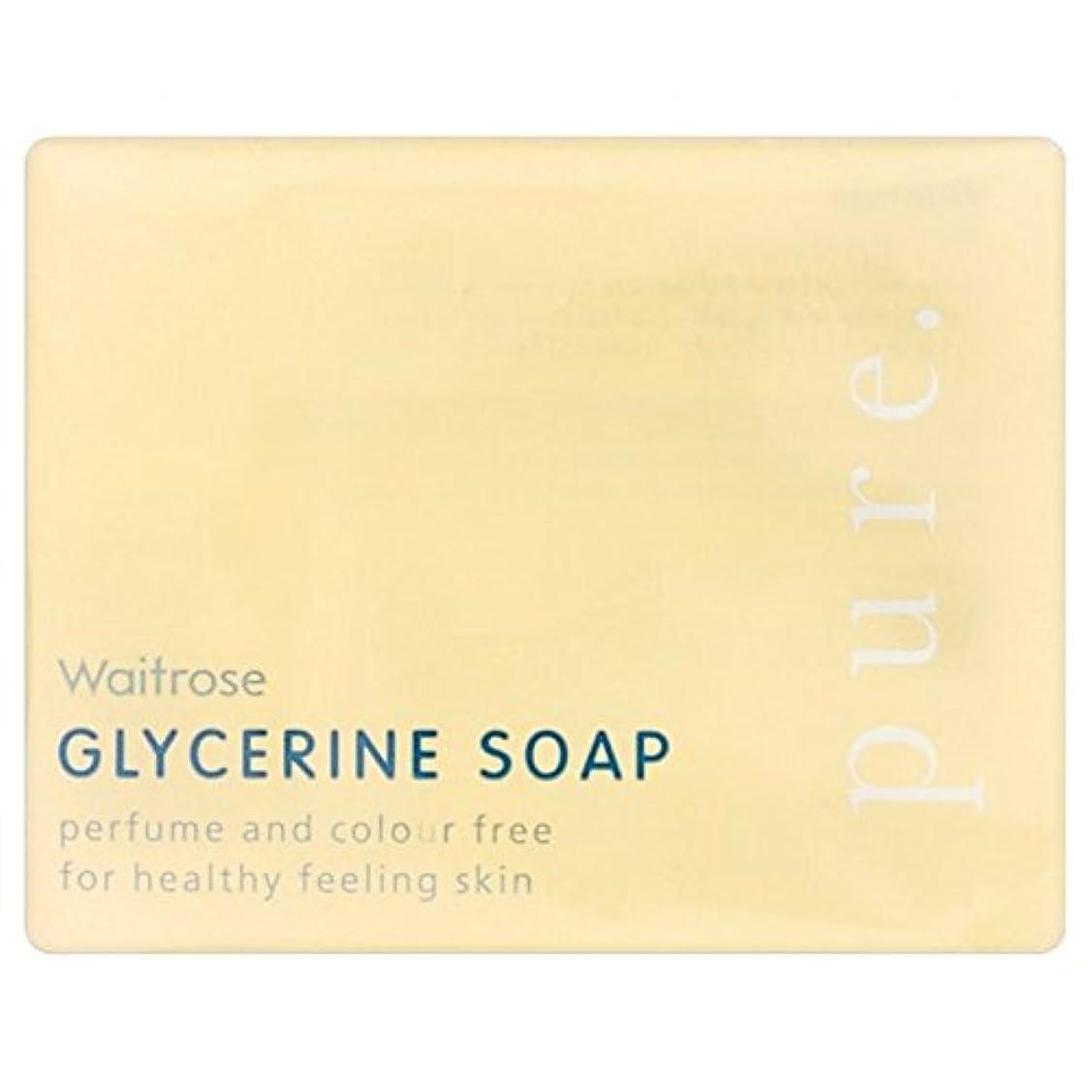 安らぎ駐地トラフ純粋なグリセリンソープウェイトローズの100グラム x4 - Pure Glycerine Soap Waitrose 100g (Pack of 4) [並行輸入品]