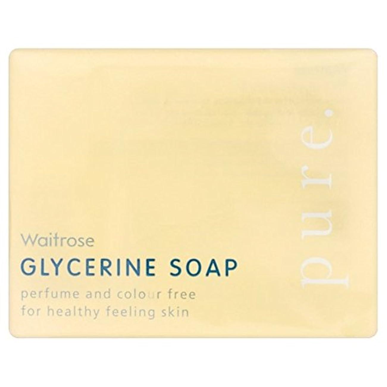 カレンダーコミュニケーション側純粋なグリセリンソープウェイトローズの100グラム x2 - Pure Glycerine Soap Waitrose 100g (Pack of 2) [並行輸入品]