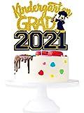 Kindergarten Grad 2021 Graduation Cake Topper - Class Of 2021 Gold...
